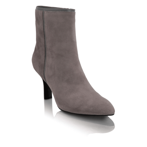 Lianna Angular Bootie Women's Boots in Grey
