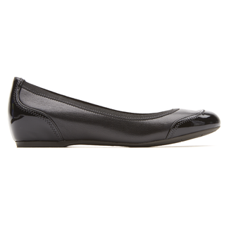 Rockport Women's Black Total Motion Hidden Wedge Crescent Cap Toe