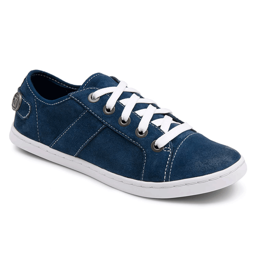 Coralee Cap Toe Lace Up Women's Casual Shoes in Navy