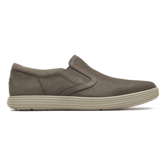 Thurston Gore Slip-On Comfortable Men's Shoes in Grey