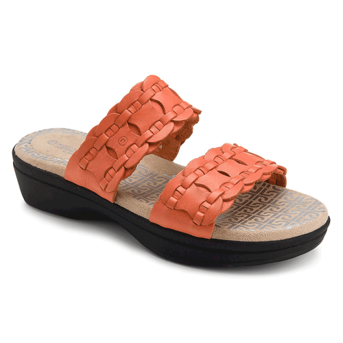 Fanessa 2 Strap Slide Women's Sandals in Brown