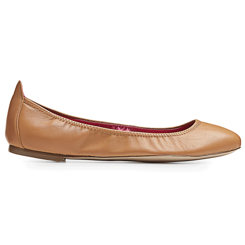 Daya Plain Ballet Women's Flats in Brown