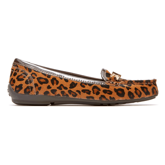 Total Motion Chain Driving Moc Women's Shoes in Leopard