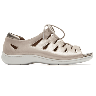 Bromly Ghille Sandal Extended Size Women's Shoes in White