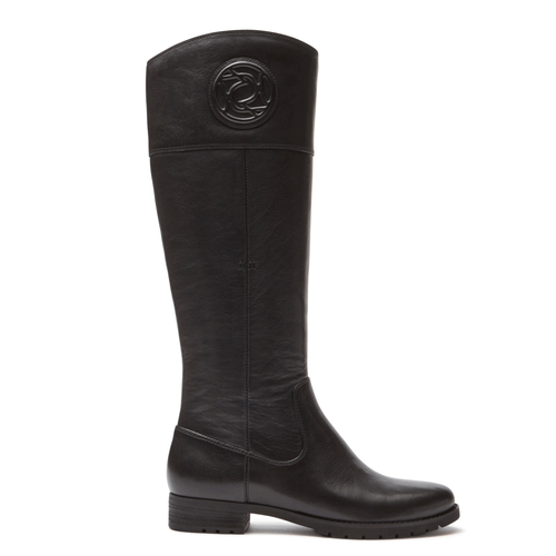 Tristina Rosette Tall Boot in Black