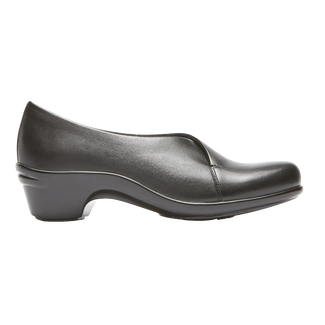 Kitt Asym Slip On, BLACK LEATHER