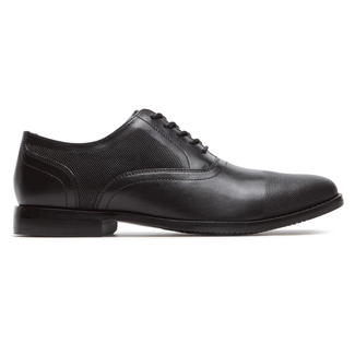 Style Purpose Perf Captoe Comfortable Men's Shoes in Black