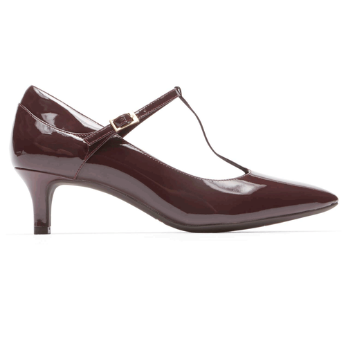 Total MotionKalila T-Strap Pump in Brown