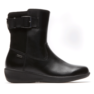 Lancaster Waterproof Linda Side Zip Boot in Black