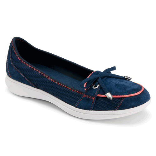 Yezenia Bow Tie Slip On Women's Flats in Navy