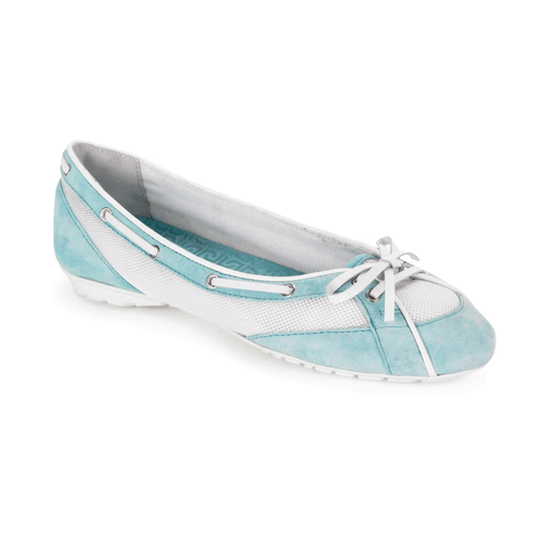 Etty Laced Boat Ballet Women's Boat Shoes in Navy