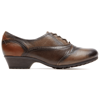 Georgina Lace Up Cobb Hill by Rockport in Brown