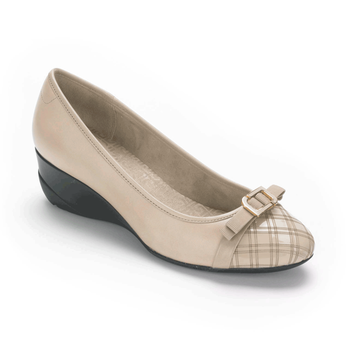 truLinda Laser Cap Toe Women's Pumps in Grey