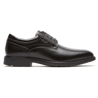 Insider Details Waterproof Plain Toe Oxford Men's Oxfords in Black