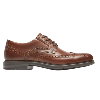 Total Motion Classic Dress Wing Tip, NEW BROWN
