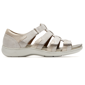 Bromly Gladiator Sandal Extended Size Women's Shoes in White