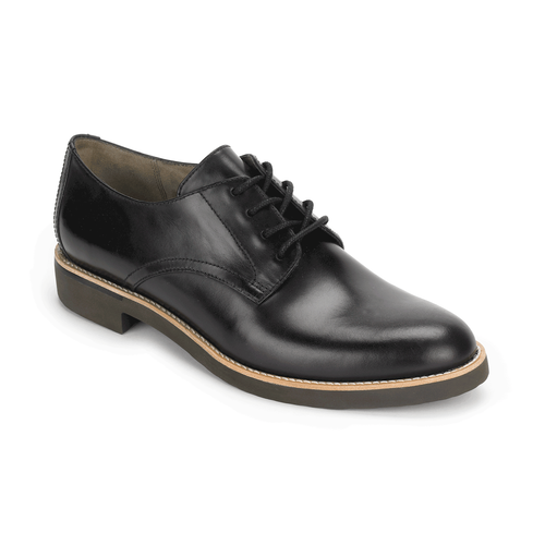 Alanda Plain Derby Women's Dress Casual Shoes in Black