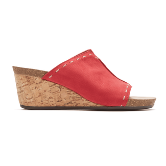 Rockport Women's Red Total Motion Taja Slide
