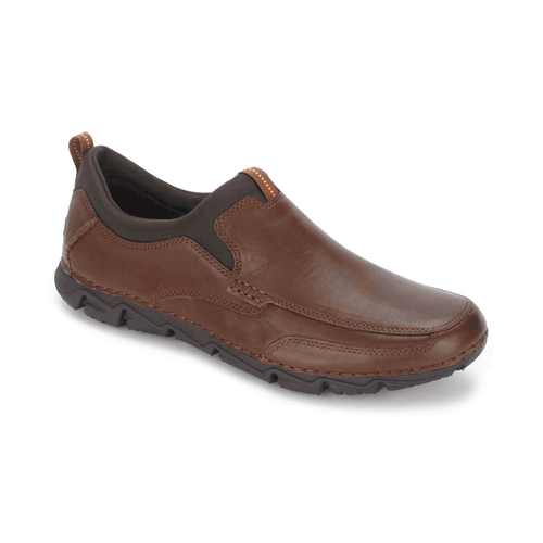 RocSports Lite 2 Moc Toe Slip On, Men's Brown Casual Shoes
