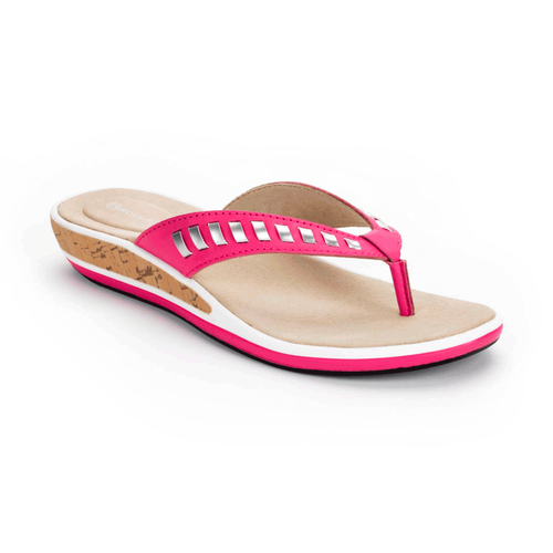 Jaquelle Whipstitch Thong Women's Sandals in Pink