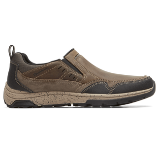 Trukka Waterproof Slip-On Extended Size Men's Shoes in Brown