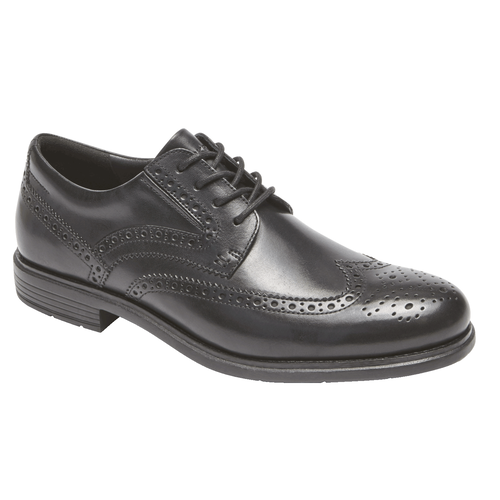 Total Motion Classic Dress Wingtip, BLACK