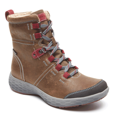 FreshExcite Waterproof Lace Up Boot Cobb Hill by Rockport in Brown