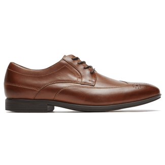 Style Connected Wingtip Comfortable Men's Shoes in Brown