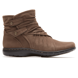 Pandora Side Zip Bootie Cobb Hill by Rockport in Brown