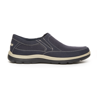 Get Your Kicks Perfed Slip-On in Navy