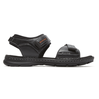 Darwyn Quarter Strap Sandal Comfortable Men's Shoes in Black