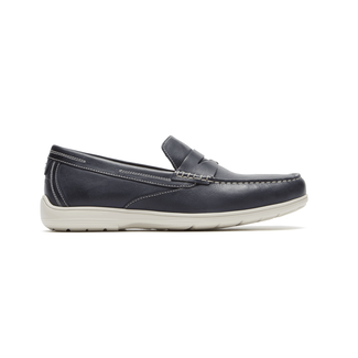 Total Motion Penny Loafer Comfortable Men's Shoes in Navy