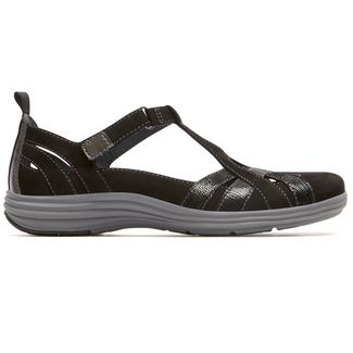 Beaumont Fisherman Sandal  Extended Size Women's Shoes in Black