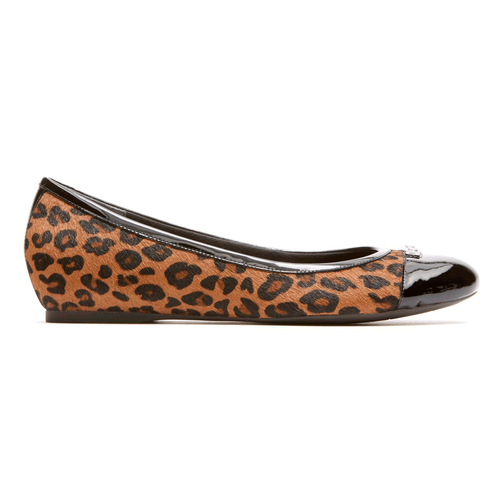 Total Motion Hidden Wedge Cap Toe Women's Wedges in Leopard