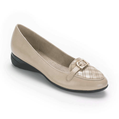 truLisa II Laser Moc Women's Flats in Grey
