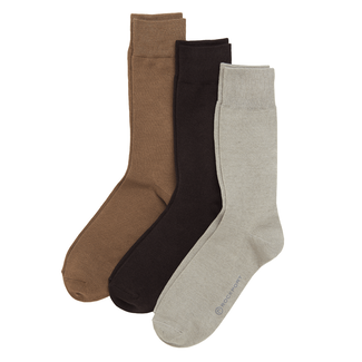 Basic Cotton Socks, VCN/GREY/BROWN