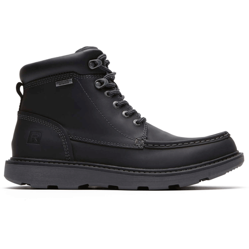 Boat Builders Waterproof Moc Toe Boot in Black