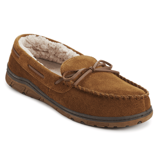 Genuine Suede Moc Slipper - Men's Tan Slippers