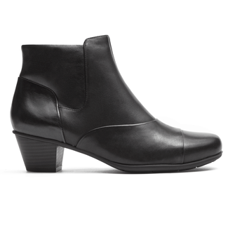 Total Motion Amy Plain Bootie in Black