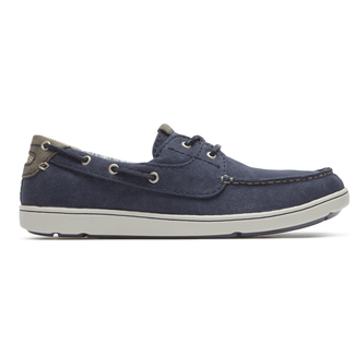 Gryffen 2-Eye Boat Shoe Comfortable Men's Shoes in Navy