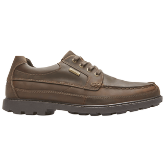 Rugged Bucks Waterproof Moc Toe Oxford, DK TAN