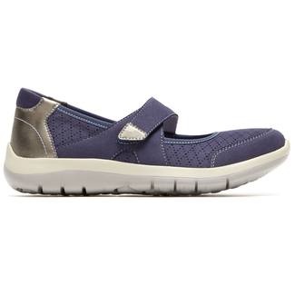 Wembly Mary-Jane Extended Size Women's Shoes in Navy