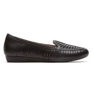 Cobb Hill Galway Woven Loafer Comfortable Women's Shoes in Black