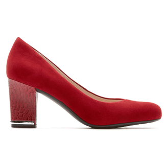 Seven to 7 Mid Plain Pump Women's Heels in Red