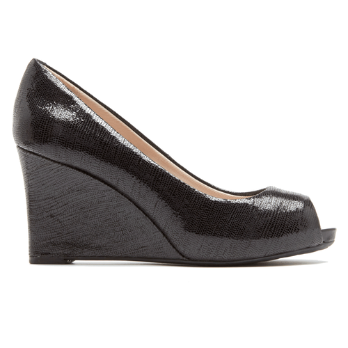 Seven to 7 Peep Toe Wedge Women's Wedges in Black