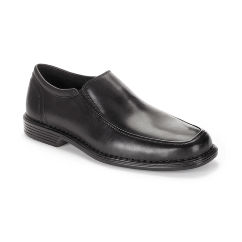 Washington Square Double Gore Slip On Men's Dress Shoes in Black