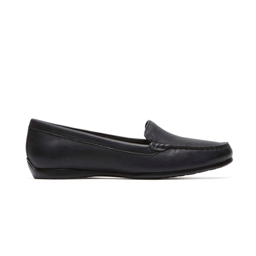 Demisa Plain Moc Women's Dress Casual Shoes in Black