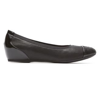 Total Motion Hidden Wedge Gore Cap Toe in Black