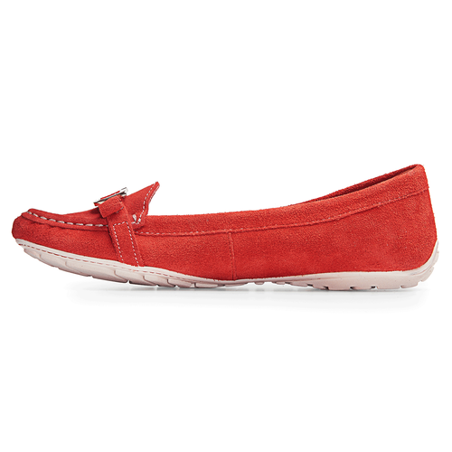 Etty Enamel Moc Women's Flats in Red