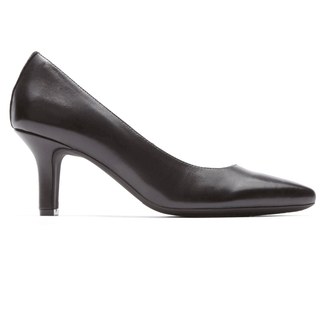Shashmeen Plain Pump in  Black